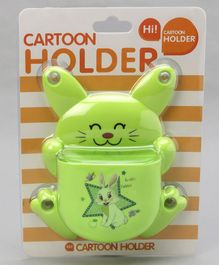 Rabbit Shaped Toothbrush Stand - Green