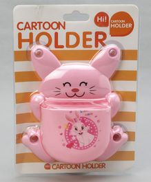 Rabbit Shaped Toothbrush Stand - Pink