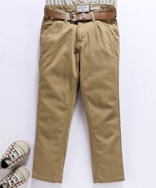 Gini & Jony Full Length Trousers With Belt - Beige