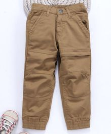Gini & Jony Full Length Trouser - Khaki