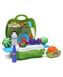Sunny Fruit Set With Case - Dark Green