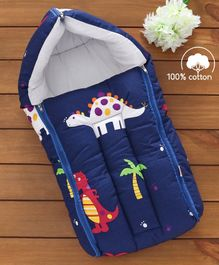 Babyhug Sleeping Bag Dino Print - Navy Blue