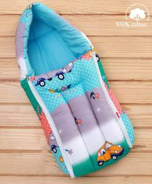 Babyhug Sleeping Bag Cars Print - Blue