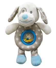 Buddsbuddy Premium Soft Funny Dog Shaped Baby Rattle with Music - Blue