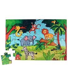 RK Cart Jungle Theme Jigsaw Puzzles - Multicolor
