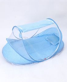 Babyhug Portable Mosquito Net with Matress  - Blue