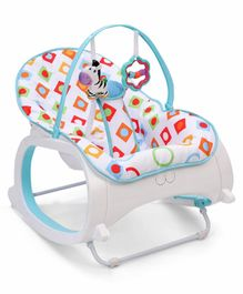 Baby Bouncer With Hanging Toys - Blue