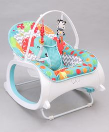 Baby Bouncer With Hanging Toys - Sea Green
