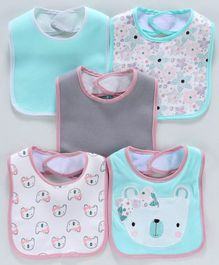 Knitted Bibs Pack of 5 - Multicolor