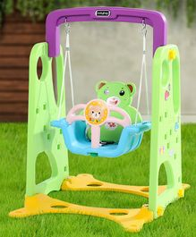 Babyhug Swing with Safety Harness - Blue Green