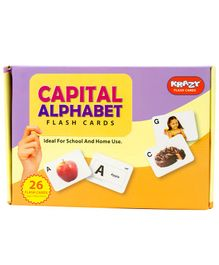 Krazy Capital Alphabet Flash Cards 26 Cards - Animal & Fruits