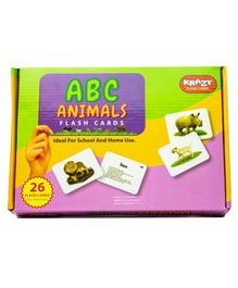 Krazy ABC Alphabet 26 Flash Cards - Animal