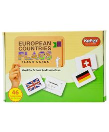 Krazy European Countries Flags 46 Flash Cards - Flags