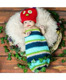 Babymoon New Born Caterpillar Theme Baby Photo Graphy Shoot Props Costume - Multicolour