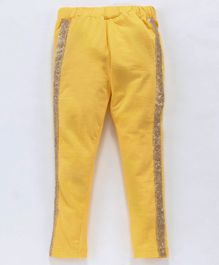 Birthday Girl Full Length Solid Color Leggings - Yellow