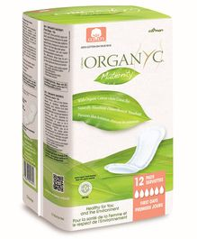 Organ(y)c 100% Cotton Maternity First Days Pads - 12 Pieces