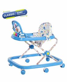 Dash Classic Baby Walker With Toy Bar - Blue
