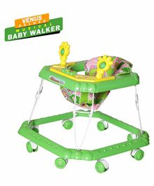 Dash Venus Deluxe Musical Baby Walker with Rattle Toys - Green