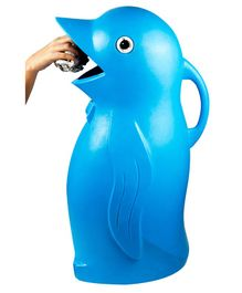 Kiddie Fun Big Penguin Shape Dust Bin - Blue