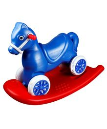 Kiddie Fun Horse Shape Baby Rocker With Handle - Blue