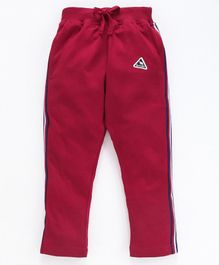 DEAR TO DAD Full Length Side Striped Lounge Pants - Maroon