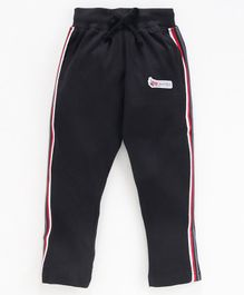 DEAR TO DAD Full Length Side Striped Lounge Pants - Black
