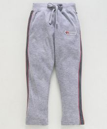 DEAR TO DAD Full Length Side Striped Lounge Pants - Grey