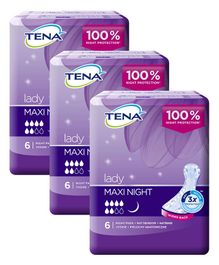 Tena Lady Maxi Night Bladder Control Pads - 18 Pieces