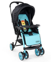 Babyhug Rhythm Stroller With Mosquito Net - Black Blue