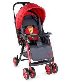 Babyhug Rhythm Stroller With Mosquito Net - Red Black