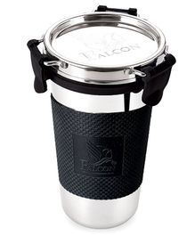Falcon Eco Steel Tumbler With Gripper Black - 300 ml