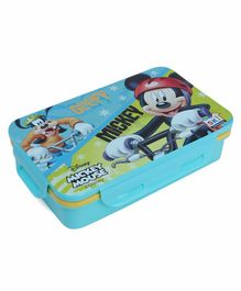 Disney Mickey Mouse Lunch Box With Fork Spoon - Blue