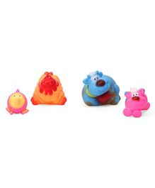 IToys Animal Shape Squeaky Bath Toys Pack of 4 - Multi Colour