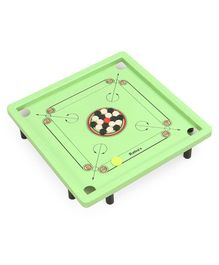 Ratna's Champ Carrom Board With 8 stands - Green