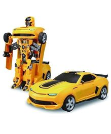 Syga Deformation Robot Car With Light & Music - Yellow