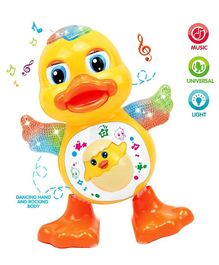 Syga Dancing Duck Toy With Music & Flashing Lights - Yellow