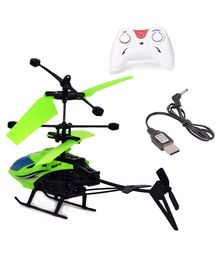 Syga Induction Type 2-in-1 Flying Indoor Helicopter Radio Control Helicopter - Assorted ( Color May Vary )