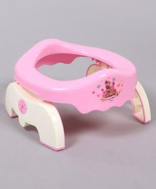 Baby Potty Chair With Lid  - Pink (Print May Vary)