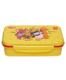 Imagica Characters Printed Lunch Box - Yellow