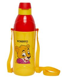 Imagica Roberto Character Printed Water Bottle  Yellow Red - 400 ml