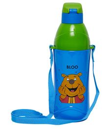 Imagica Bloo Character Printed Water Bottle  Blue Green - 400 ml