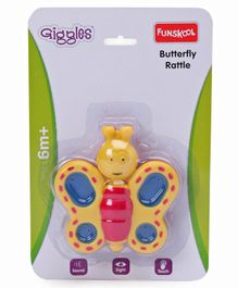Giggle Toys Butterfly Rattle - Yellow
