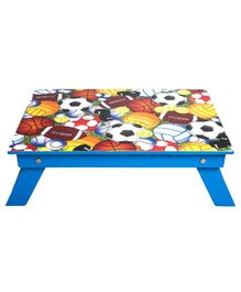 Li'll Pumpkins Blue Ball Folding  Study table / Bed Table - Blue