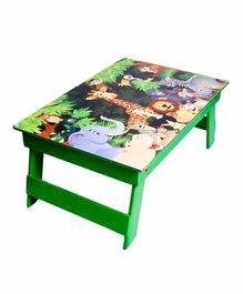 Li'll Pumpkins Folding  Study table / Bed Table - Green