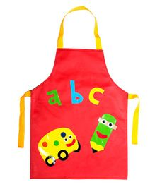 Li'll Pumpkins School Leatherette Apron - Red
