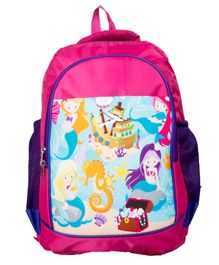 Li'll Pumpkins Mermaid School bag - Pink