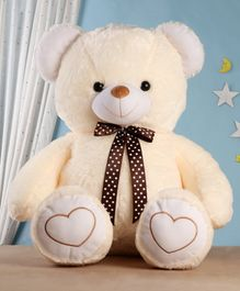 Babyhug Plush Teddy Bear Soft Toy Cream - Height 91 cm