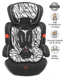 Babyhug Safe Journey Forward Facing Car Seat - Zebra Print