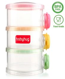 Babyhug Milk Powder Container 3 Racks - Multicolor