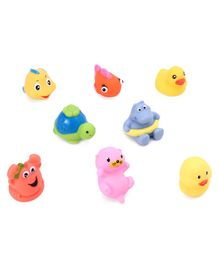 Animal Shape Bath Toys Pack Of 8 - Multicolor